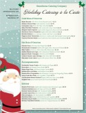 Christmas Dinner Catering Menu