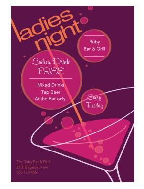 Ladies Night Flyer Restaurant Flyer