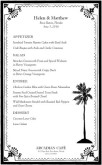 Tropical Wedding Menu