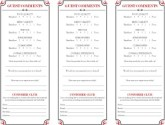 Brasserie Comment Card