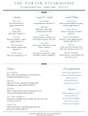 Downtown Dining Menu
