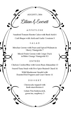 Customize Dinner Event Menu  Formal Dinner Menu Template