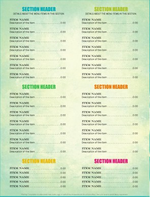 Customize Mexican Restaurant Menu Page