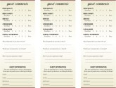 American Restaurant Comment Card