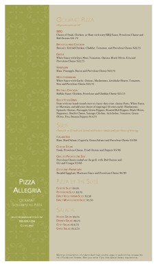 Customize Neighborhood Pizza Menu