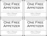 Fine Dining Restaurant Coupon