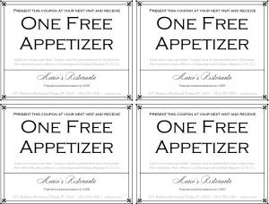 Customize Fine Dining Restaurant Coupon