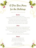 Christmas Holly Buffet Menu