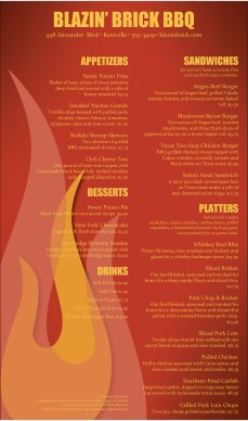 Customize Barbecue Grill Menu
