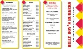 Hamburger Takeout Menu