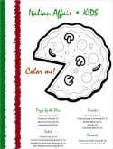 Pizza Coloring Menu