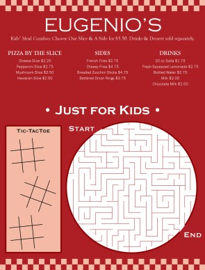 Kids Menu Design, Kids Restaurant Menus - MustHaveMenus