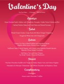 Valentines Day Tasting Menu