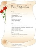 Scroll Valentines Day Menu