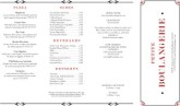 Brasserie Takeout Menu