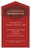 Flyer for Restaurant Event