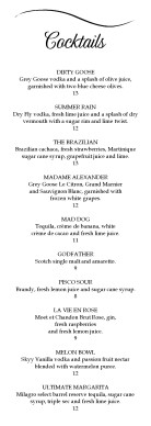 Customize Cocktail Reception Menu Template