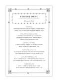 Vintage Table Tent Menu