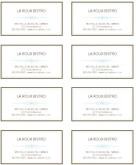 French Restaurant Business Card