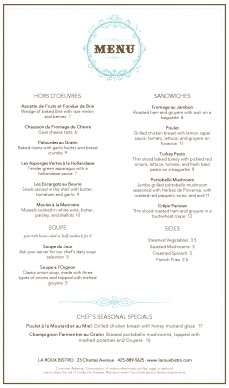 Customize french restaurant menu long for French cafe menu template