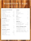 Tequila Bar Menu