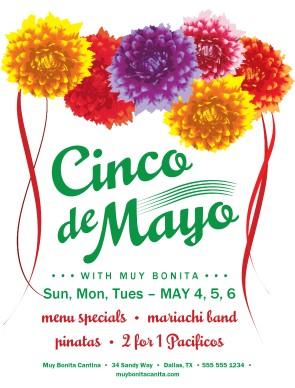 cinco de mayo restaurant flyer cinco de mayo flyers