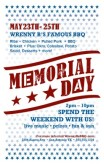 Memorial Day Restaurant Flyer