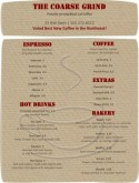 Coffeehouse Drinks Menu