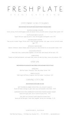 simple html menu template - simple wedding catering menu wedding catering menus