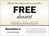 Online Restaurant Coupon