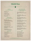 German Food Menu