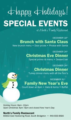 Holiday Events Flyer | Christmas Flyer