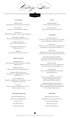Customize Dinner Menu