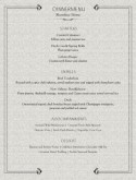 Grey Catered Dinner Menu