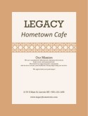 Sandwich Menu Cover