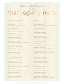 Thanksgiving Feast Catering Menu