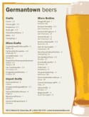 Draught Beer List