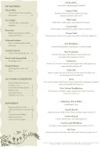 A4 French Bistro Menu Page