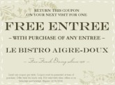 Online Coupon French Bistro