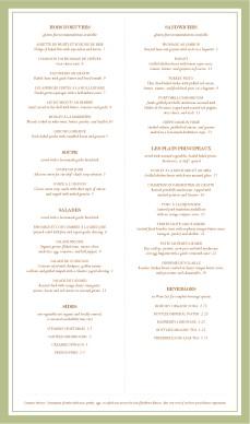 fancy french menu page lunch cafe menu. Black Bedroom Furniture Sets. Home Design Ideas