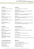 Color Fine Dining A4 Menu
