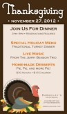 Restaurant Thanksgiving Flyer