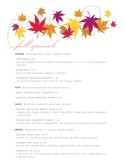 Autumn Menu Specials