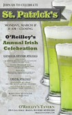 St Pattys Beer Flyer