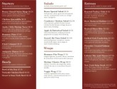 Family Restaurants Trifold Page