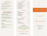 City Wine Bar Trifold Menu