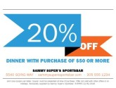 Online Coupon Sports Grill