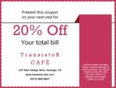 Online Cafe Coupon