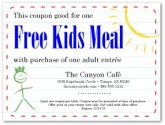 Online Coupon Kids Meal