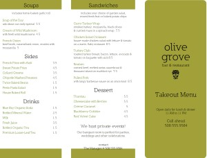 Customize Restaurant To Go Menu